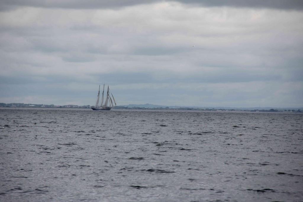 Tall ships in Dublin Bay