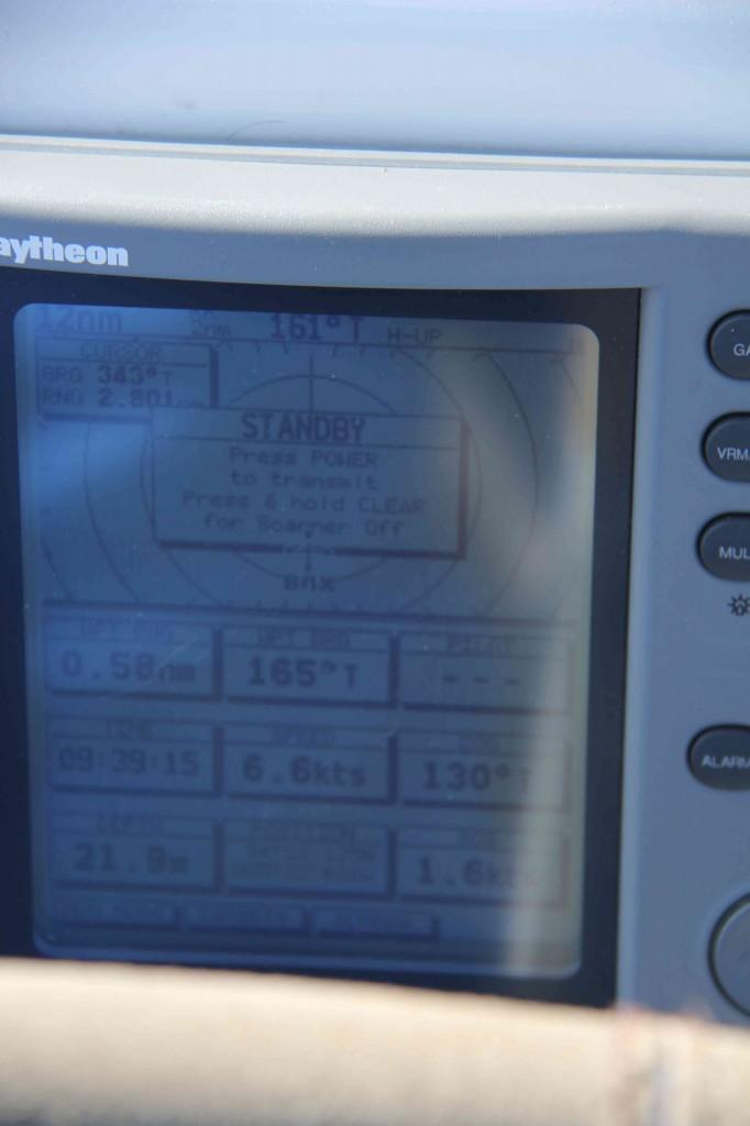Wel degelijk 4 knopen stroming, snelheid 6,6 kts en snelheid over de grond maar 1,6 kts