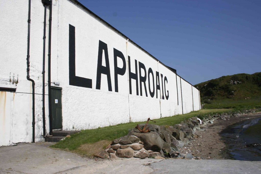 Warhouse van Laphroaig distillery